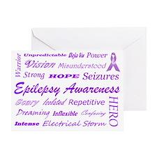 epilepsy.subwayart1 Greeting Card