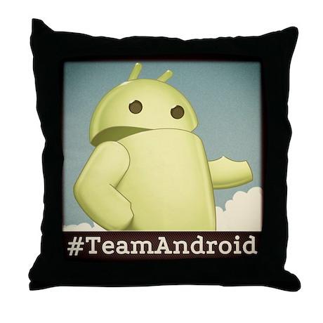 teamandroid Throw Pillow