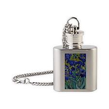 441 VG Irises89 Flask Necklace