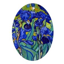 441 VG Irises89 Oval Ornament