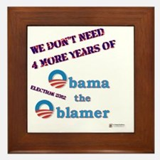 obama the oblamer Framed Tile