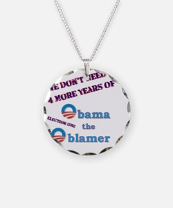 obama the oblamer Necklace Circle Charm