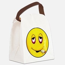 Senor Mr Smiley buttons Canvas Lunch Bag