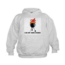 BBQ Grill on fire. Stunts Hoodie