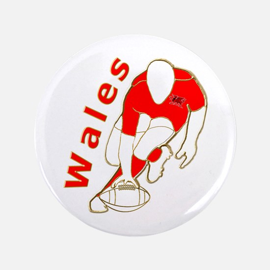 """Wales Great Britain Rugby 3.5"""" Button"""
