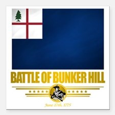 "Bunker Hill (Flag 10)2 Square Car Magnet 3"" x 3"""