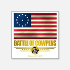 "Cowpens (Flag 10)2 Square Sticker 3"" x 3"""