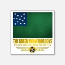 "Green Mountain (Flag 10)2 Square Sticker 3"" x 3"""