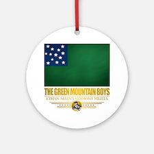 Green Mountain (Flag 10)2 Round Ornament