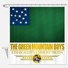 Green Mountain (Flag 10)2 Shower Curtain