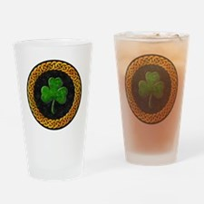 CELTIC-SHAMROCK-CIRCLE Drinking Glass