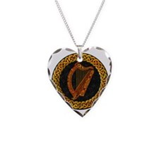 CELTIC-HARP Necklace Heart Charm