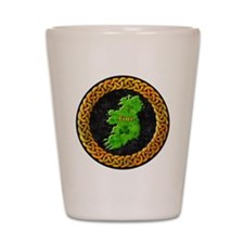 celtic-ireland-map Shot Glass