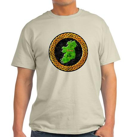 celtic-ireland-map Light T-Shirt