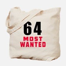 64 most wanted Tote Bag