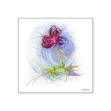 "fractal flower Square Sticker 3"" x 3"""