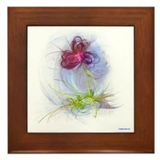 fractal flower Framed Tile
