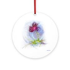fractal flower Round Ornament