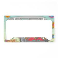 VWVan60sGroovyGlassPrint License Plate Holder