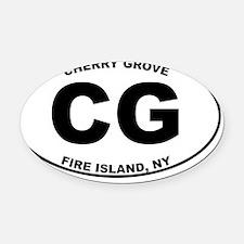 CG Oval Car Magnet