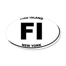 FI Oval Car Magnet
