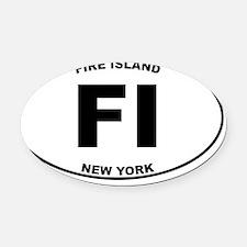 FI Oval Car Magnet