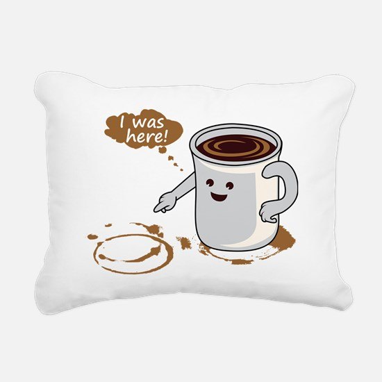 Coffee stain Rectangular Canvas Pillow