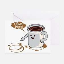 Coffee stain Greeting Card