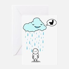 Piss rain Greeting Card