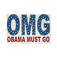 omg obama must go star yard sign  Rectangle Magnet