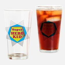 Super hero KidB Drinking Glass