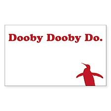 doobydoobydoWHITE Decal