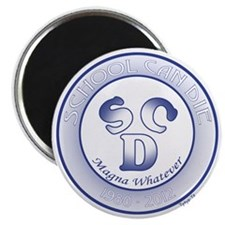 SCD Circle Magna whatever shirt 10x10 Magnet