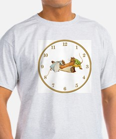 CLOCK Roly Poly Pudding Gold T-Shirt