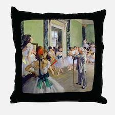 FF Degas DanceClass Throw Pillow
