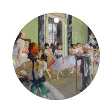 FF Degas DanceClass Round Ornament