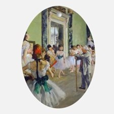 FF Degas DanceClass Oval Ornament