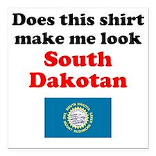 """South Dakota L Square Car Magnet 3"""" x 3"""""""