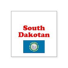"South Dakota D Square Sticker 3"" x 3"""
