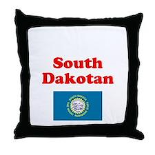 South Dakota D Throw Pillow