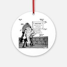5199_mortuary_cartoon Round Ornament