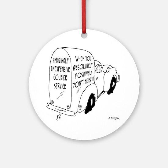 6473_truck_cartoon Round Ornament
