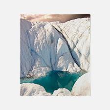 Little glacial pool on Matanuska gla Throw Blanket