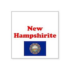 """New Hampshire D Square Sticker 3"""" x 3"""""""