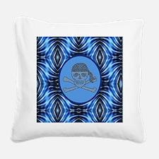 nautical pirate skull modern  Square Canvas Pillow