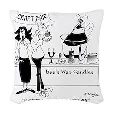 7473_bee_cartoon Woven Throw Pillow