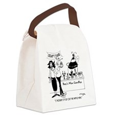 7473_bee_cartoon Canvas Lunch Bag