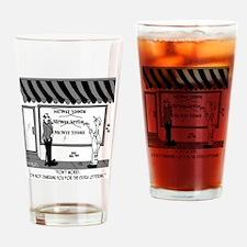 5051_business_cartoon Drinking Glass