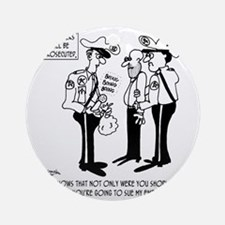 3823_lawsuit_cartoon_KS Round Ornament