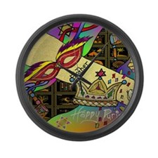 HappyPurim Large Wall Clock